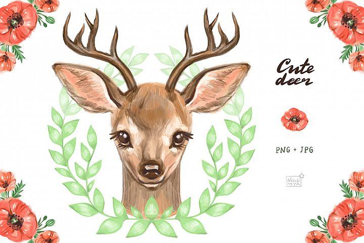 Cute deer cliparts