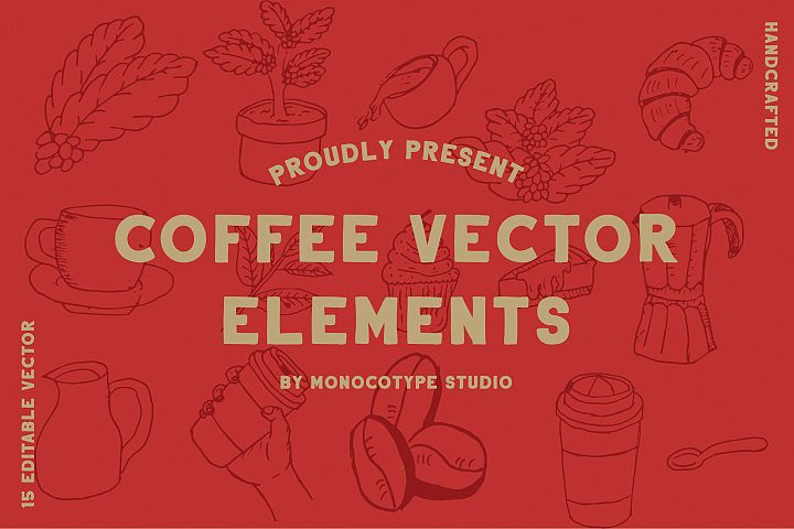 Coffee Vector Elements Pack