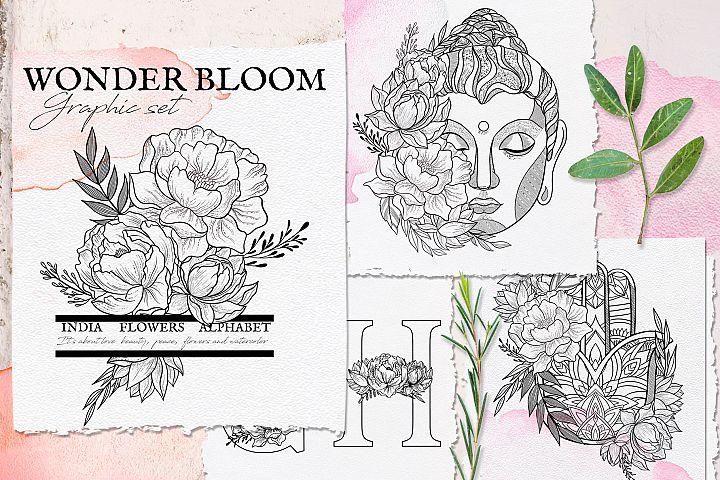 Wonder Bloom. Graphic set
