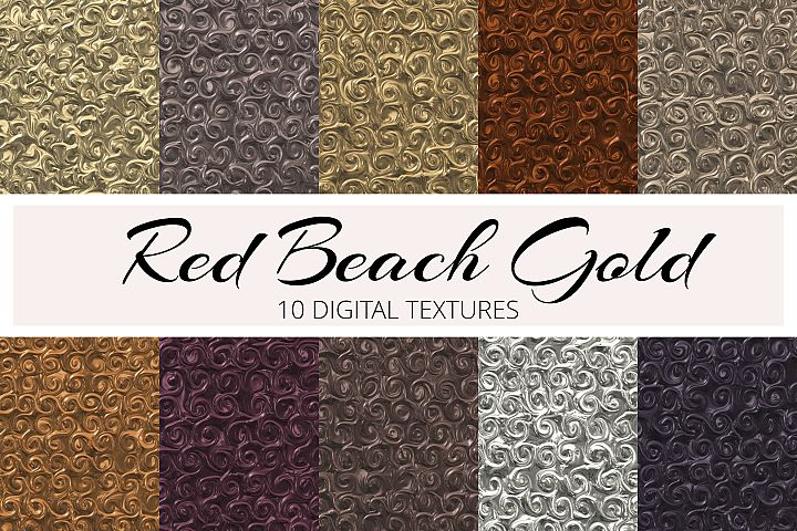 Rose Beach Gold Textures