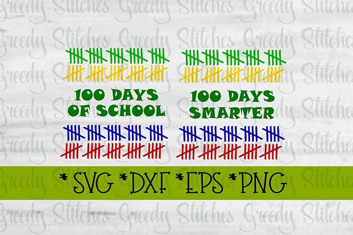 100 Days Of School Duo SVG, DXF, EPS, PNG.