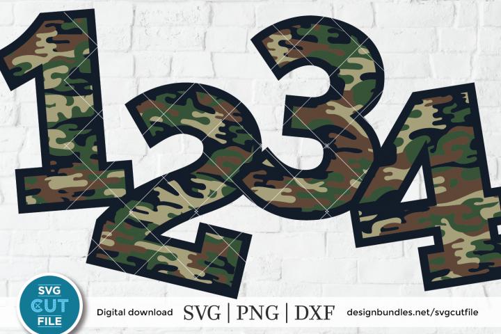 Camoflauge svg, camouflage svg, numbers svg, camo svg