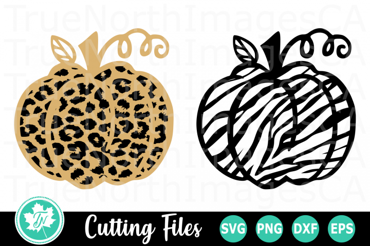 Leopard and Zebra Print Pumpkin - A Fall SVG Cut File