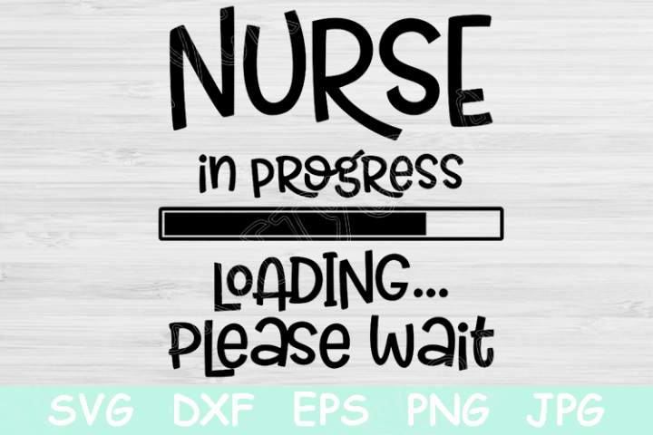 Nurse In Progress Loading Please Wait Svg Nursing Student