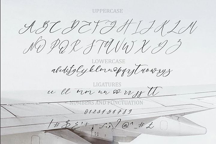 Sky Opera. A Handwritten Script Font example image 11