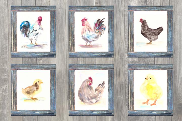On the Farm - Chicken - Clip Art & Print