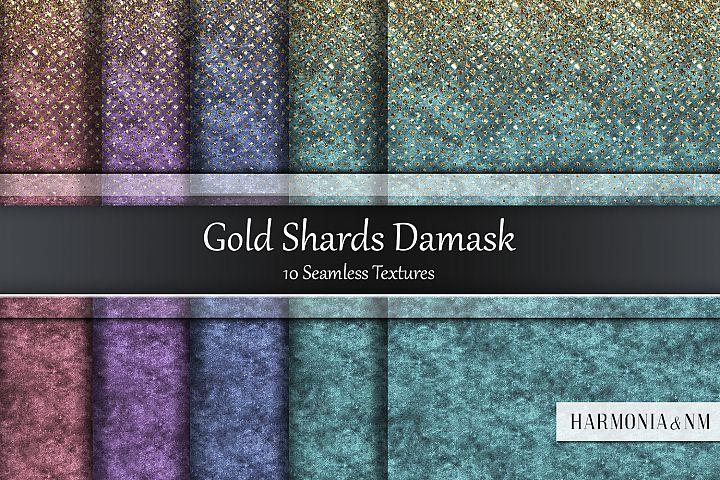 Gold Shards Damask 10 Seamless Textures