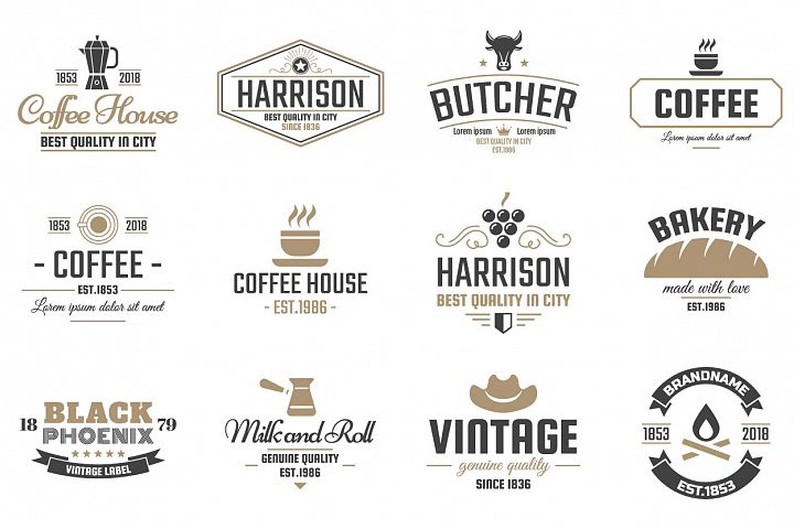 42  Vintage Logo Set example 5