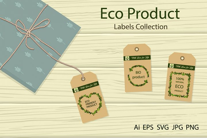 Eco Product. Labels collection.