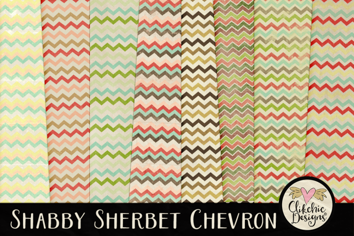 Shabby Sherbet Chevron Background Textures