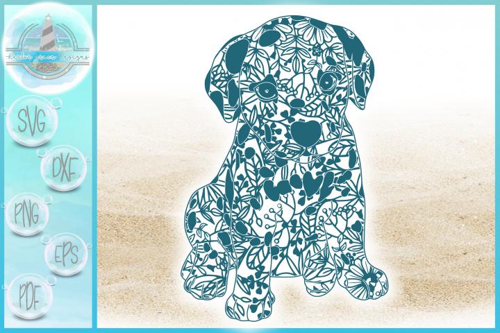 Dalmation Puppy Mandala Zentangle SVG