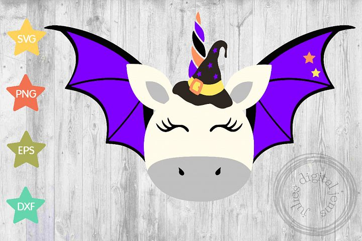 Unicorn Bat, witch, Halloween svg, by Julies digital jems