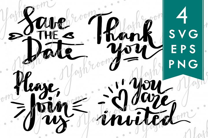 Wedding Lettering SVG Cut Files Bundle