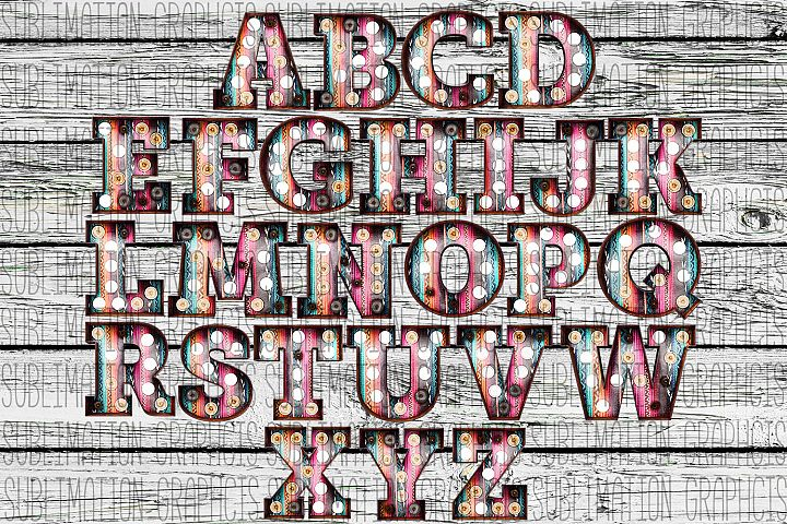 Serape Marquee Alphabet 2