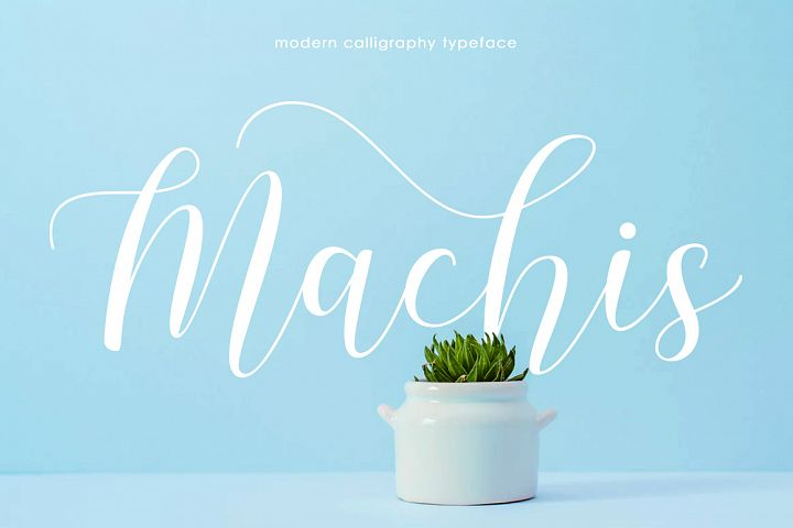 Machis | Modern Calligraphy typeface