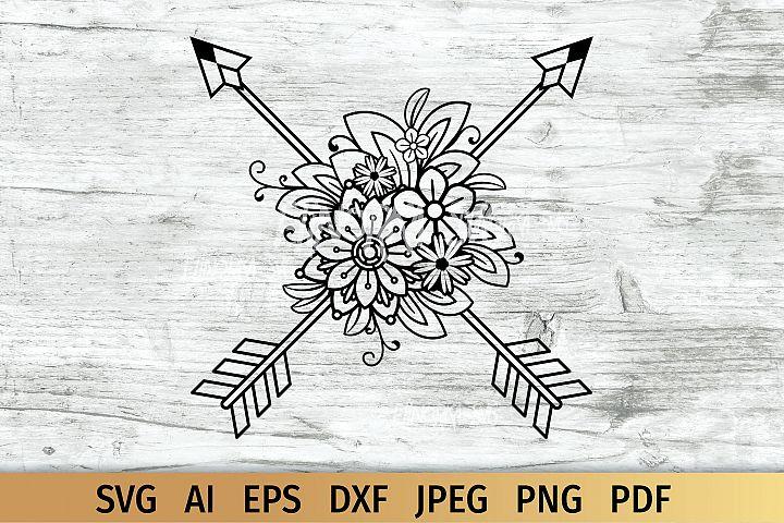 Floral Arrows, Boho svg