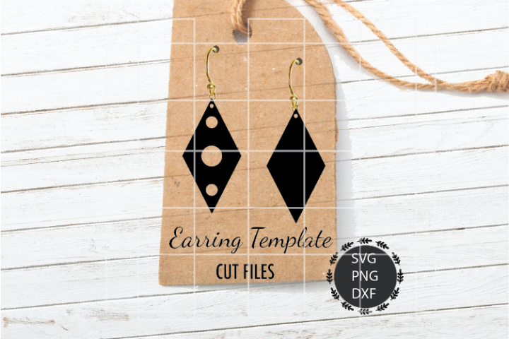 Rhombus Earrings Svg, Earrings Svg