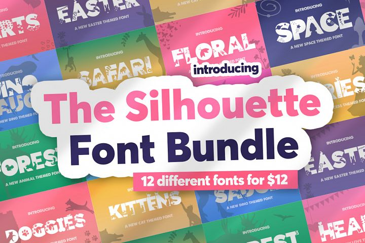 The Silhouette Font Bundle