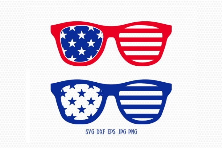 Usa america sunglasses svg, Fourth of July SVG, 4th of July sunglasses  Svg, Patriotic SVG, Cricut, Silhouette Cut File, svg dxf