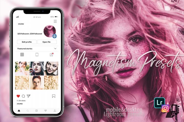 5 Magnetism presets, instagram presets, travel presets
