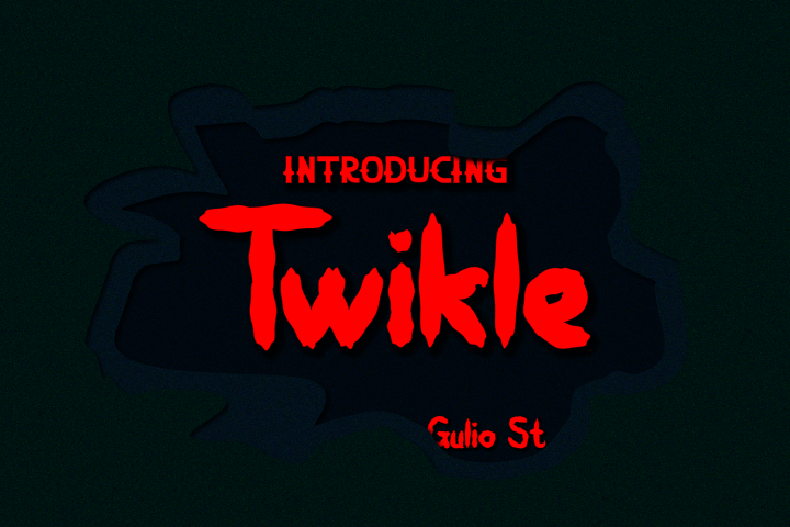 Twikle Awesome Textured Font