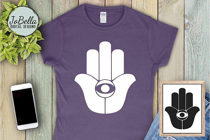 Hamsa Hand / Buddha Palm SVG and Printable Boho Design