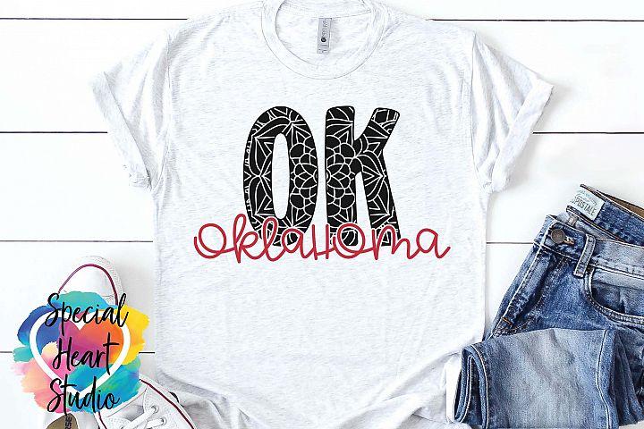 Oklahoma Mandala - A State SVG Cut File