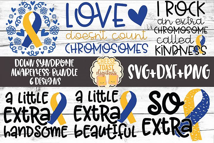 Down Syndrome Awareness Bundle - SVG PNG DXF Cut Files
