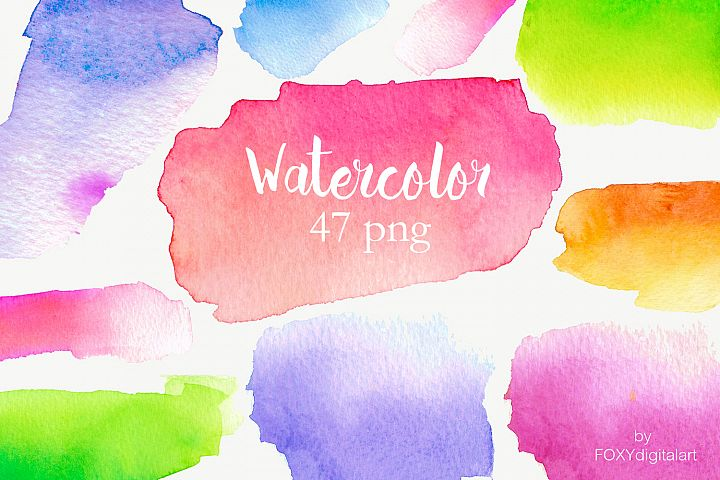 Watercolor Background Watercolor Blotches