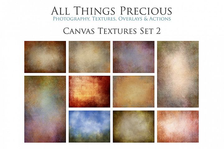 10 Fine Art Textures CANVAS - SET 2