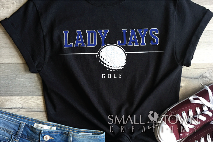 Lady Jays, Jays Mascot, Golf, Design, PRINT, CUT, DESIGN