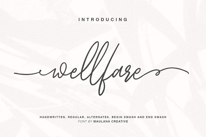 Wellfare - Handwritten Swash Font