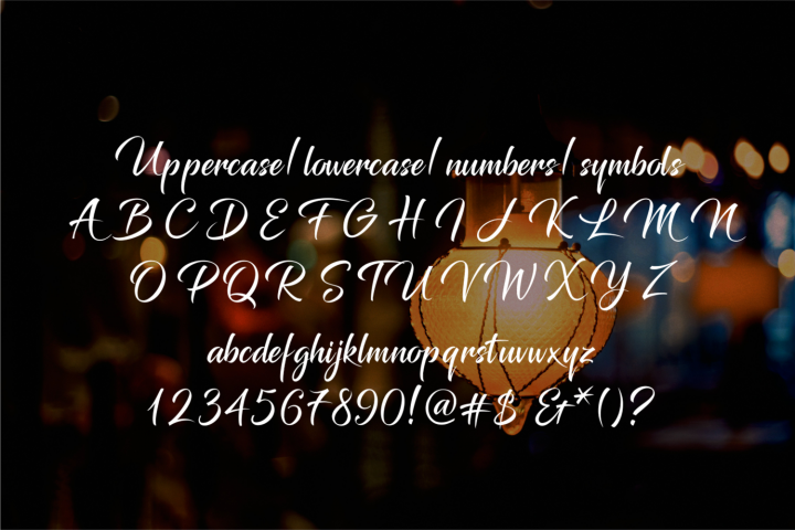 Glimmer Script - Free Font of The Week Design 2