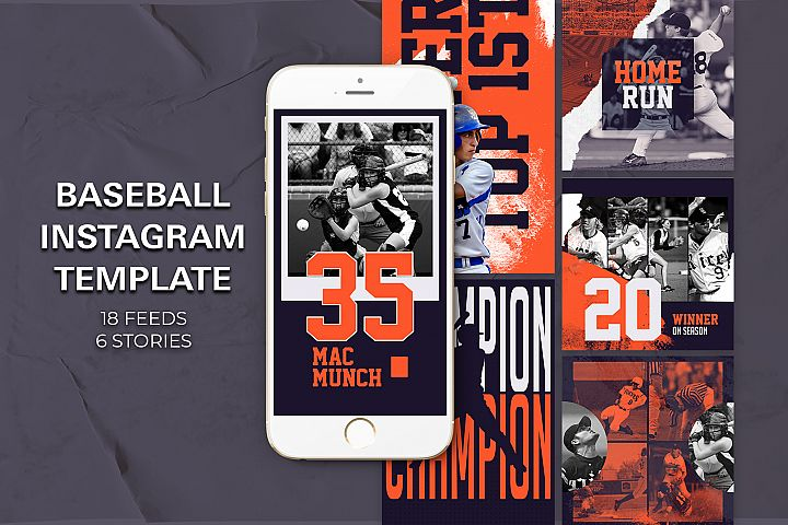 Baseball Instagram Templates