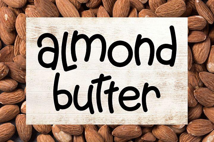 Almond Butter - A Creamy Fun Font