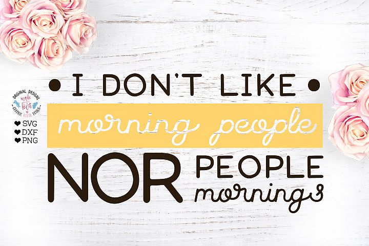 I dont like morning people nor people nor mornings