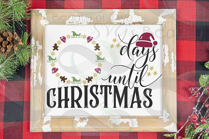 Christmas Farmhouse Countdown svg, Santa Countdown svg,
