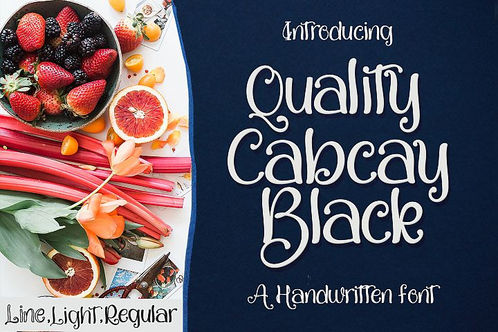 Quality Capcay Black