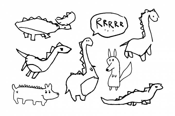 Childrens drawings dinosaur