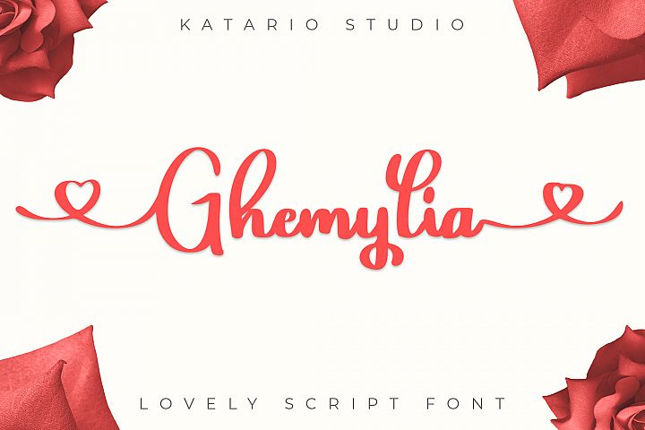 Ghemylia - Lovely Heart Font