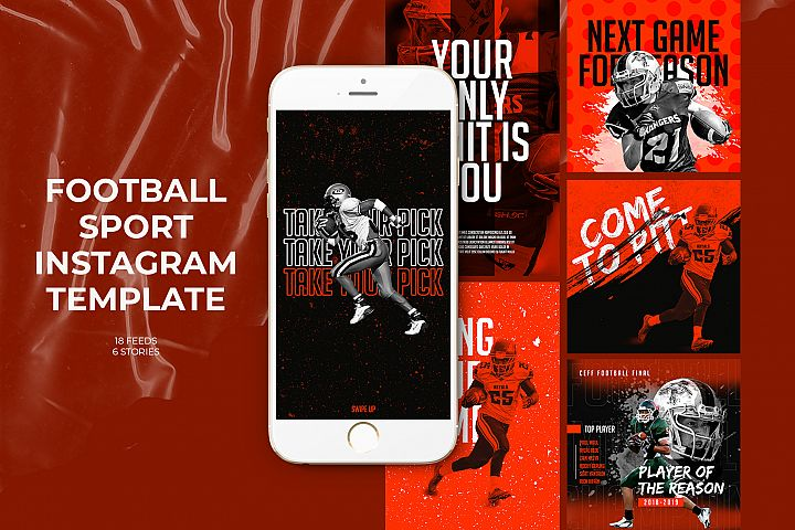 Football Sport Instagram Templates