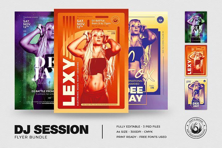 DJ Session Flyer Bundle V3