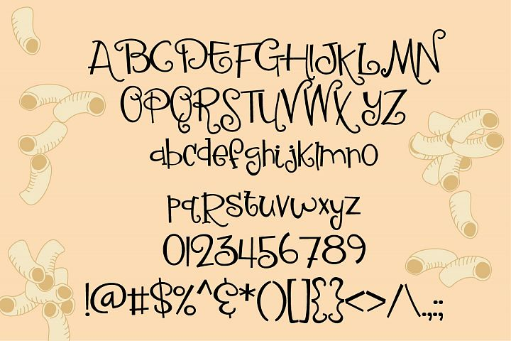 ZP Macaroni Salad - Free Font of The Week Design0