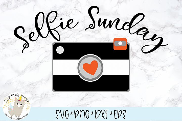 Selfie Sunday Photography SVG Cut File