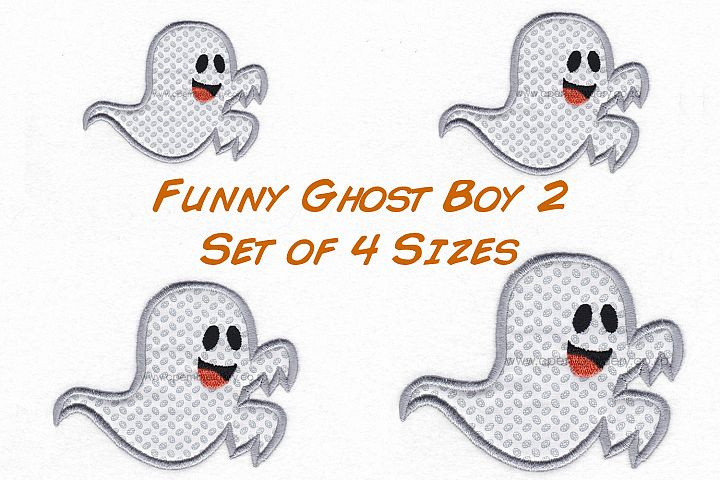 Funny Halloween Ghost Boy 2 Embroidery Design