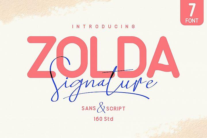 Zolda Signature Font Family | 7 FONTS