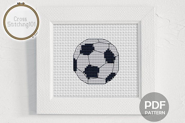 Football Cross Stitch Pattern - Instant Download PDF