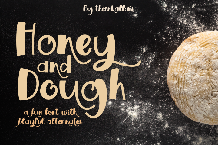 Honey and Dough, a playful font