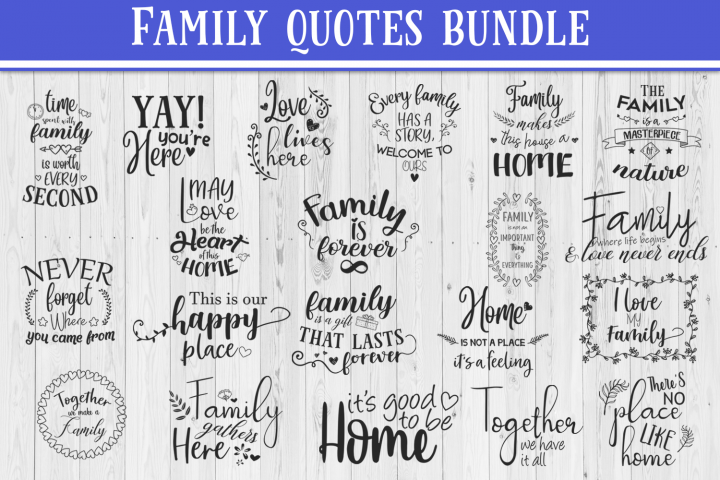 SALE! 20 Family quotes bundle, Quote sign svg, family quote.