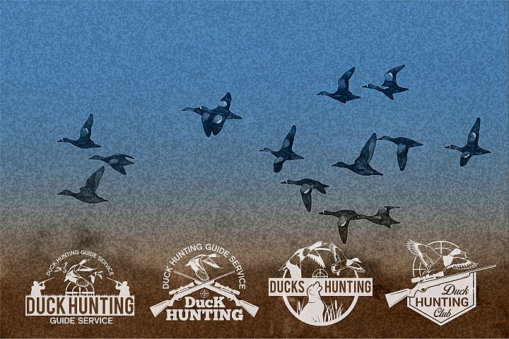 DUCK HUNTING Badges and Logo